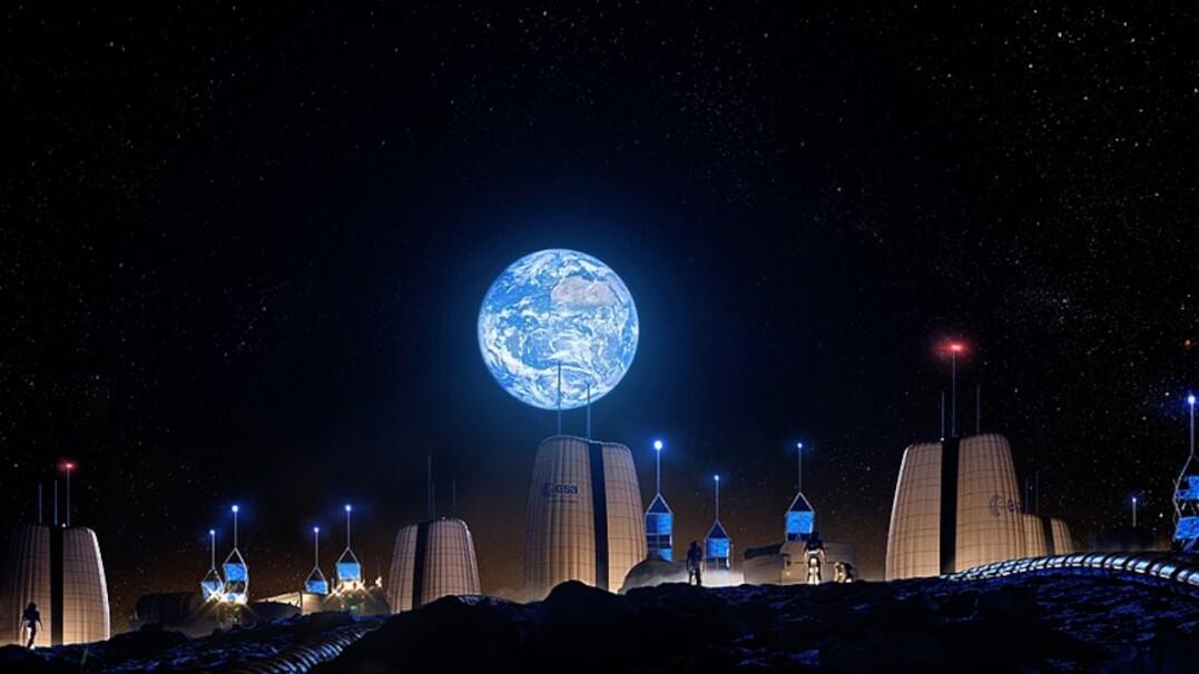 Tak może wyglądać pierwsza baza na Księżycu