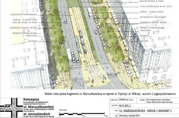 Możliwe zmiany na ulicy Marszałkowskiej Urząd Miasta