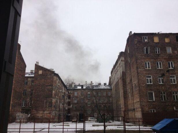 Pożar przy Brzeskiej 4 Ola / Kontakt24