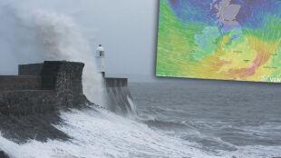Ostrzegano, że wiatr może przewracać ciężarówki. Aileen nad Wielką Brytanią