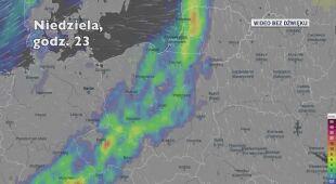 Potencjalne opady deszczu w kolejnych dniach (Ventusky.com)
